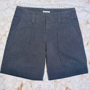 Topshop high waisted pin stripe shorts size 10